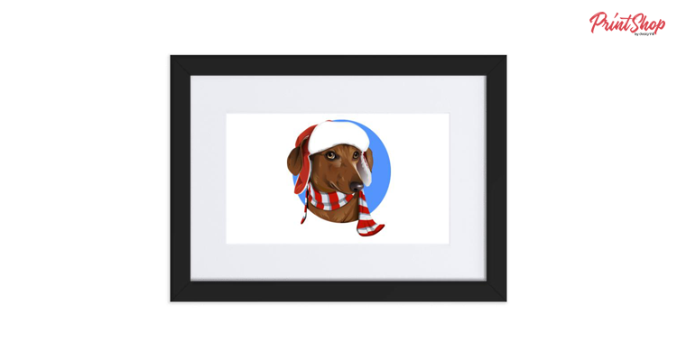 Wiener dog Christmas dog Dachshund Framed Poster