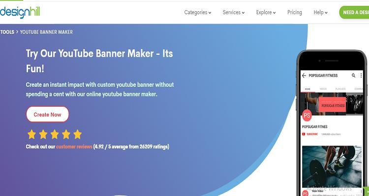 designhill youtube banner maker
