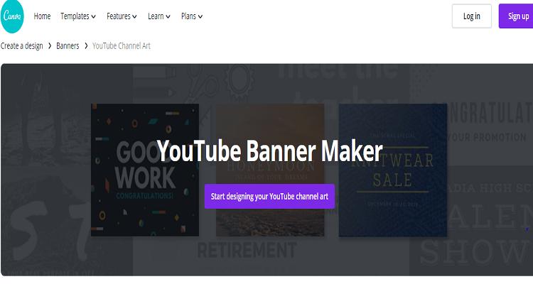 canva youtubr banner maker
