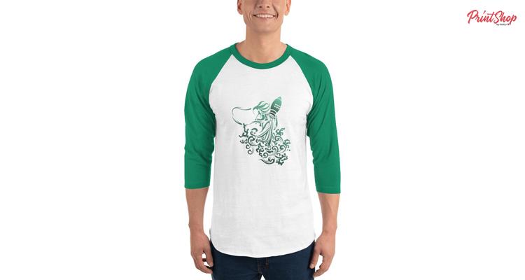 Aquarius Men's Baseball Sleeve T-Shirt