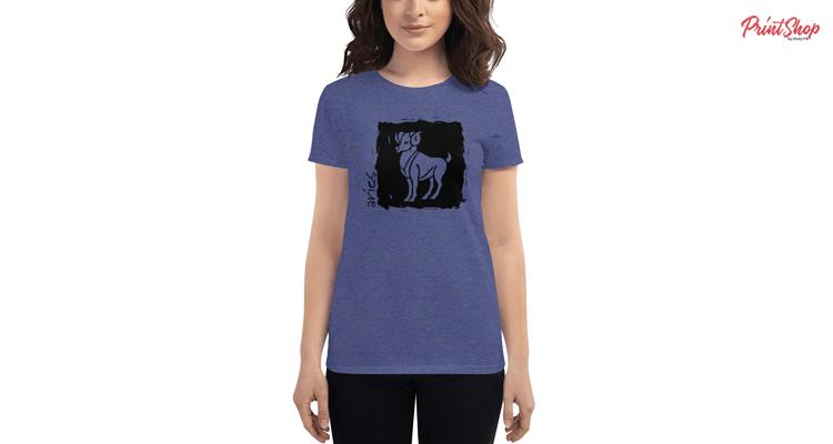 Aries Zodiac Women's Fashion Fit T-Shirt