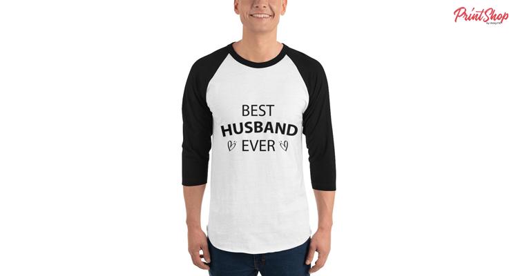 Best-Husband-Ever Men's Baseball Sleeve T-Shirt