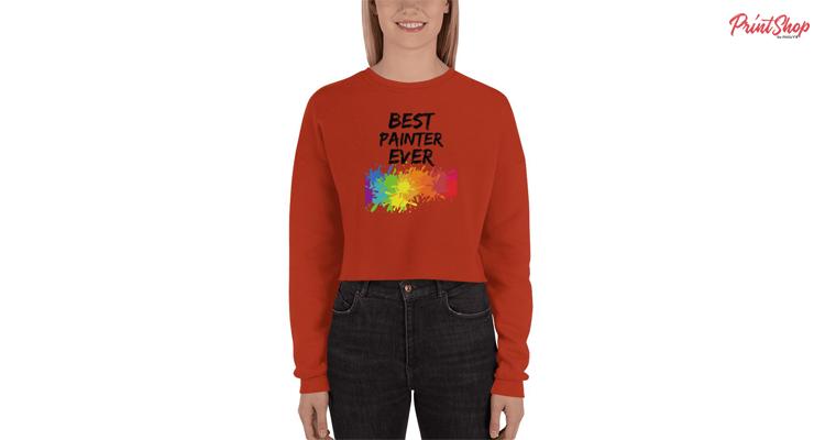 Best Painter Ever Women's Fleece Crop Sweatshirt