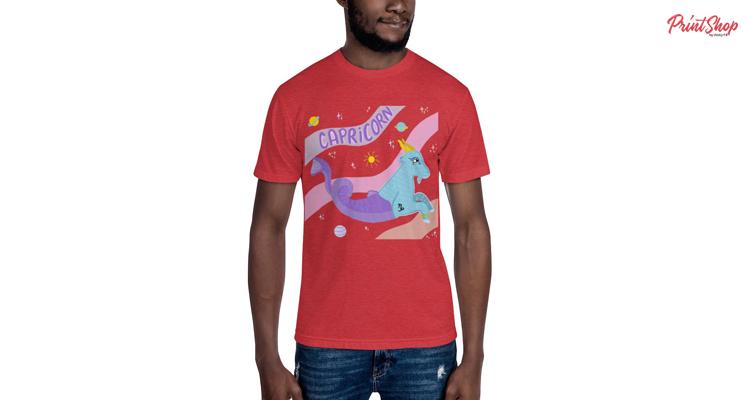 Capricorn Men's 50-50 T-Shirt