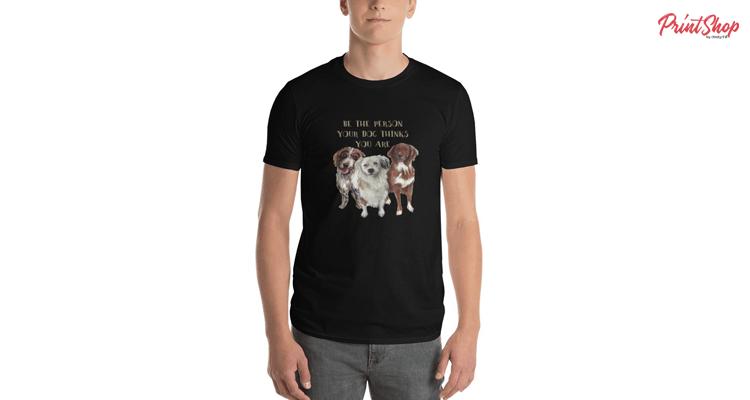 Dog's watercolor illustration Men's Premium T-Shirt