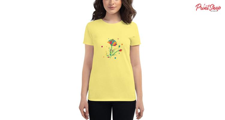 Flowers Women's Fashion Fit T-Shirt