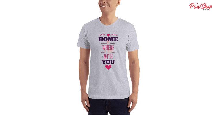 Home is where I am with you Unisex Premium Jersey T-shirt