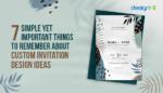 Custom Invitation Design Ideas