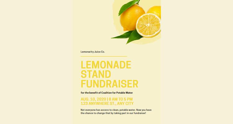 Lemonade Flyer Template
