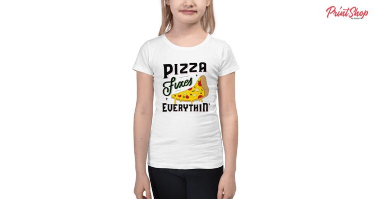 Pizza Fixes Everythin' Kids Premium T-Shirt