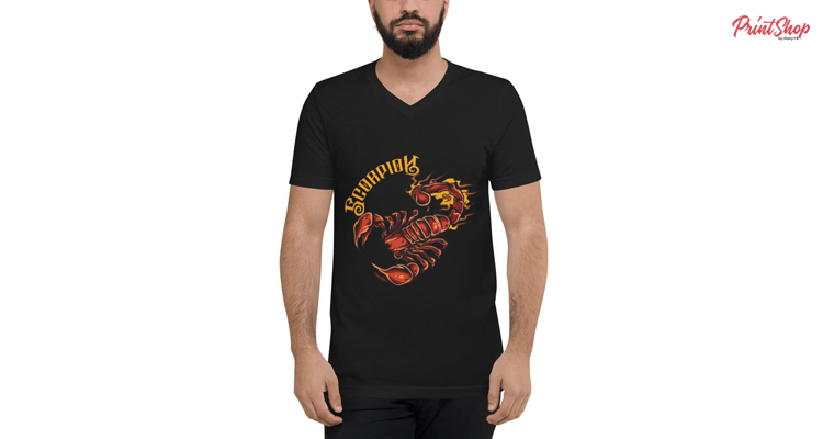Scorpion Unisex V-Neck T-Shirt Jersey