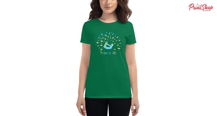 Yoga-is-Life-Mantra Women's Fashion Fit T-Shirt