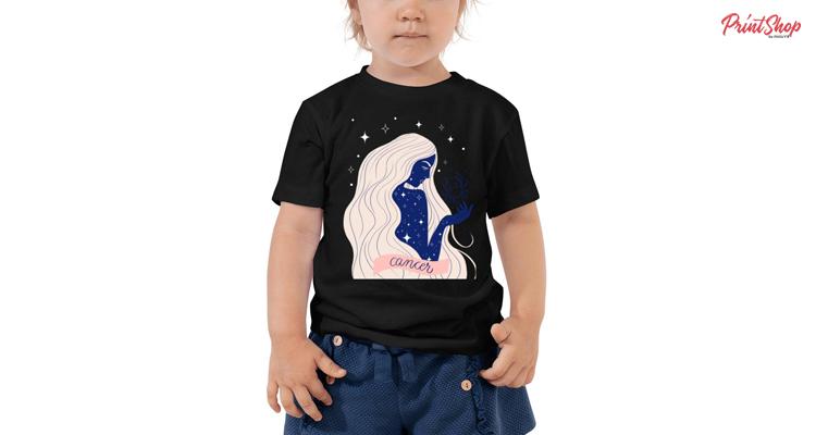 Zodiac Cancer Toddler Short Sleeve T-Shirt
