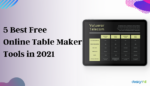 online table maker tools