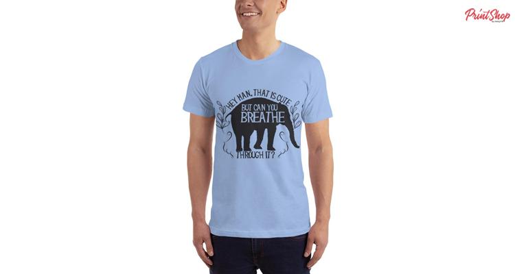Breath Through It Elephant Unisex Premium Jersey T-Shirt