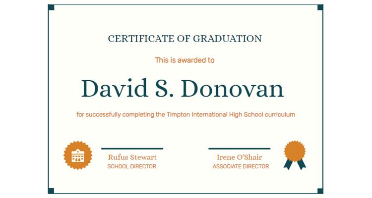 Certificate of Graduation