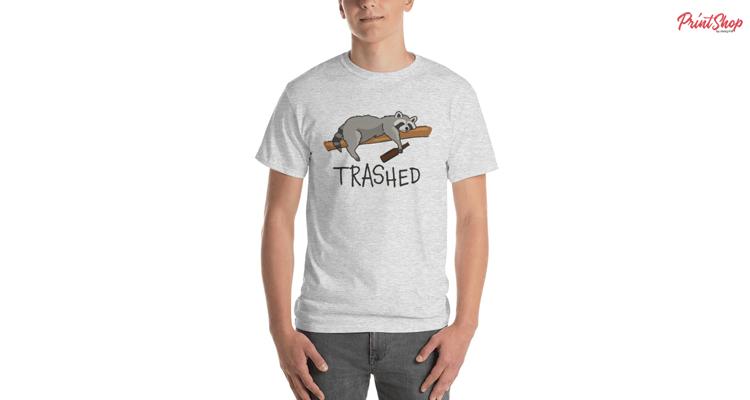 Drunk Sleeping Raccoon Men's Ultra Cotton T-Shirt