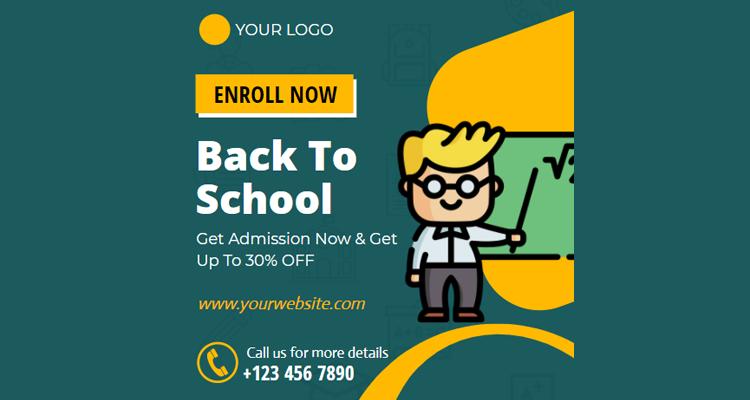 Back To School Invitation Design
