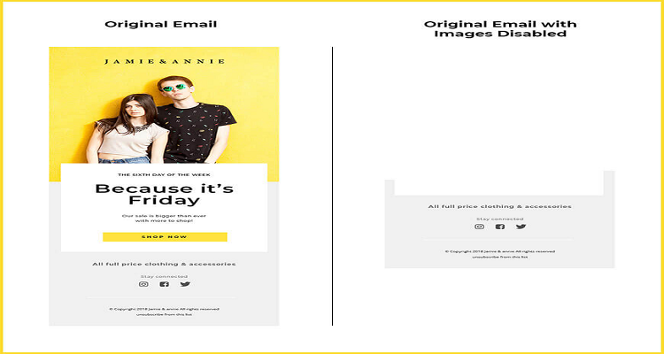 Email with images