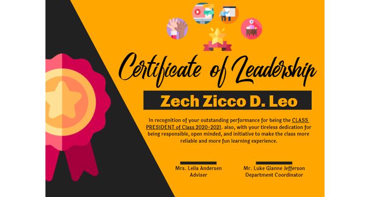 Leadership Certificate Design