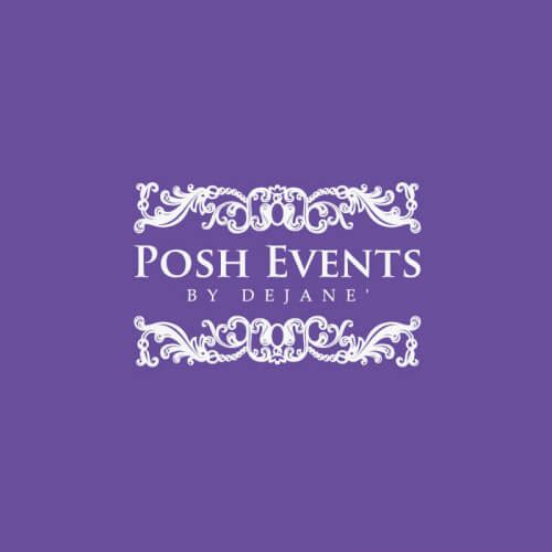 Sophisticated wedding event logo