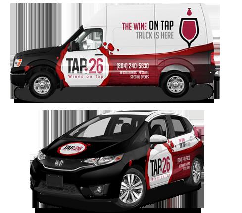 Wine On Tap Wrap Design