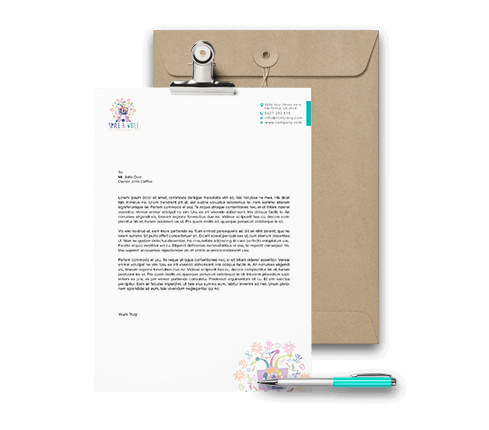 Graphic Letterhead Design