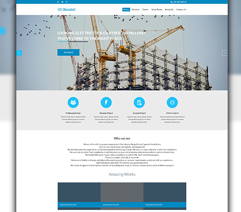 Construction Landing Page Design