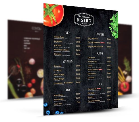 Bistro Menu Design Template