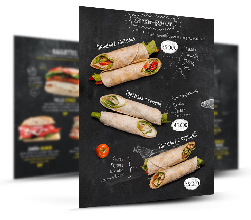 Roll Restaurant Menu Design