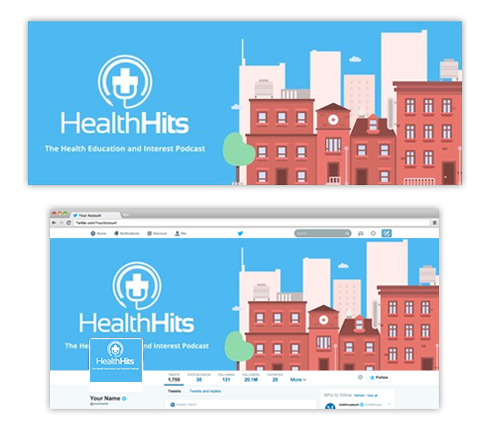 Healthcare Twitter Page Design