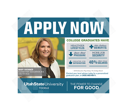 UtahState Newspaper Ad Design