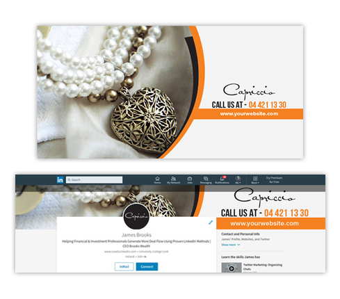 Jewelry LinkedIn Cover Design