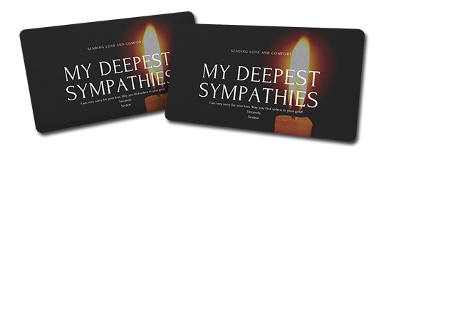 sympathy card maker