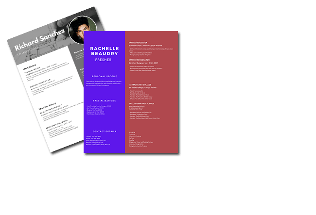 Fresher resume builder