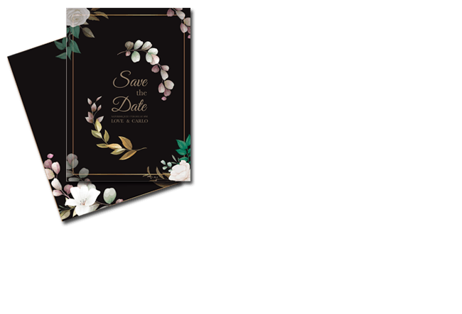 Save the date card maker