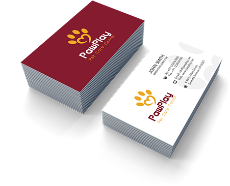 Pet Care online business card creator