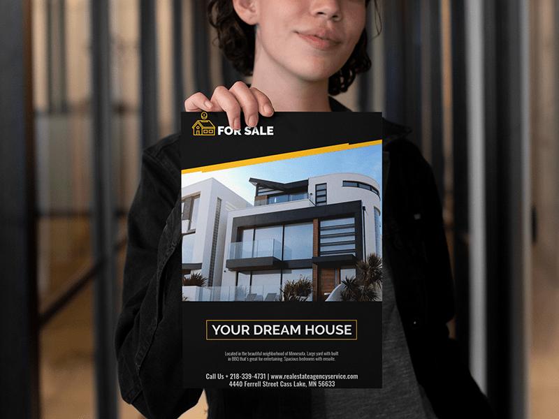 Real estate flyer maker