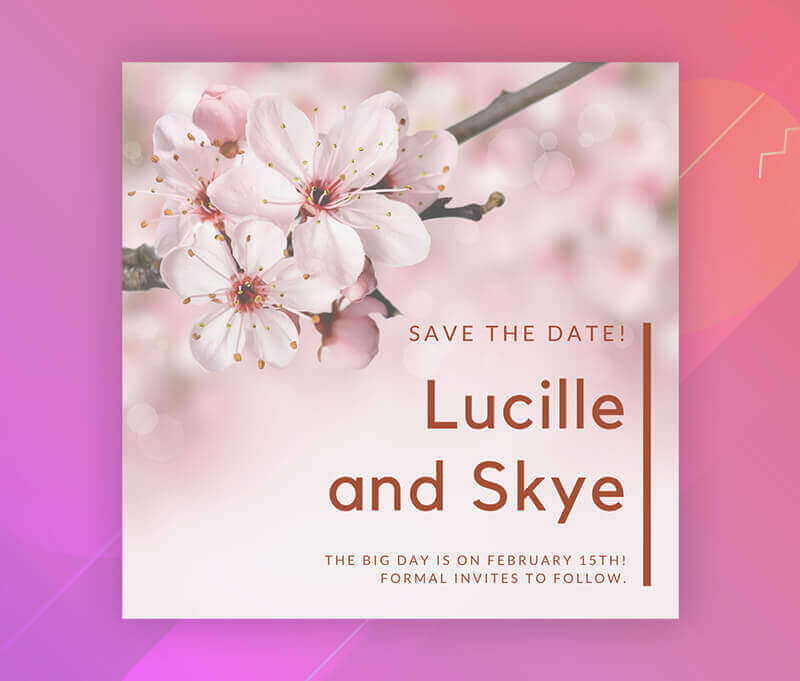 save the date card size