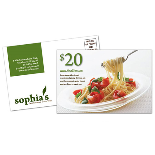 Restaurant Postcard Design