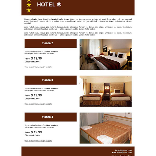 Hotel Email Template Design