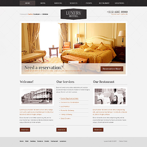 Hotel Email Template Designs