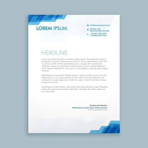 Financial Letterhead Design Example