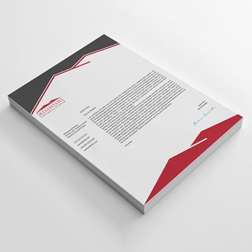 Real Estate Company Letterhead Designs