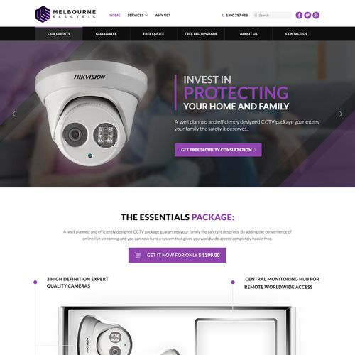 Technology Landing Page Design