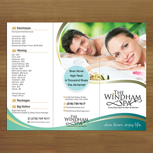 Spa Leaflet Design