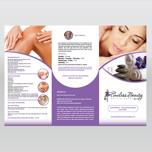 Spa Leaflet Template Design