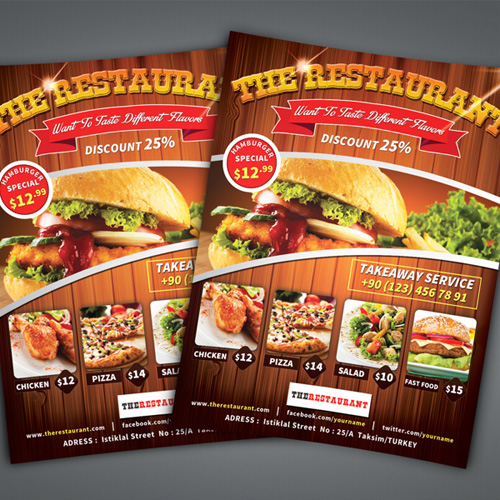 Restaurant  Leaflet Design
