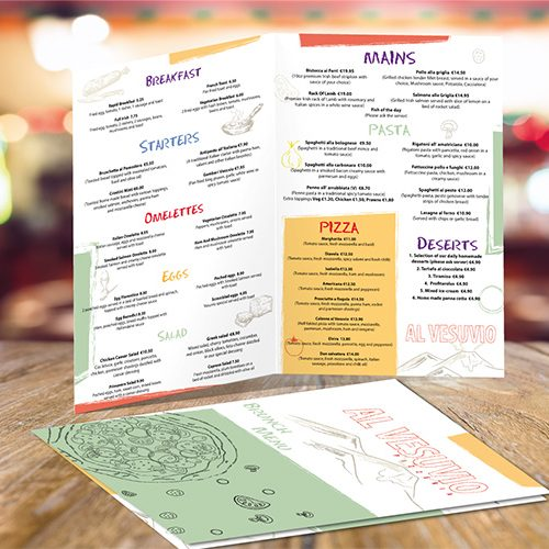 Restaurant Leaflet Design Template