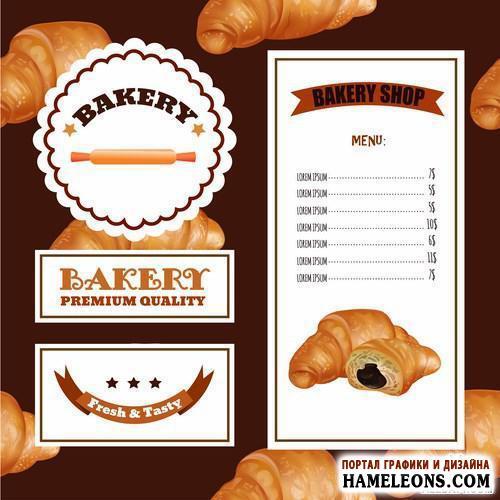 Bakery Menu Card Design